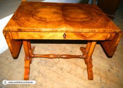 Antiker Schreibtisch Biedermeier Nussbaum um 1840/50