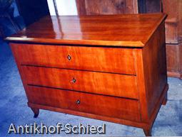 Restaureirung Biedermeier Kommode Kirschbaum Antik Hof Schied