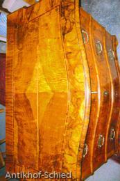 Restaurierung Nachher: Barock-Kommode, Nussbaum, 3-schübig, Edelholz