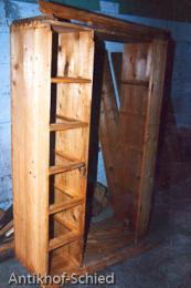 Restaurierung Vorher: Brotschrank, Kiefer, 6-schübig, 1-türig, Weichholz