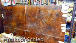 Restaurierung Vorher: Louis-Seize-Kommode, Nussbaum, 3-schübig, Edelholz