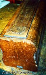 Restaurierung Vorher: Nähmaschinen Deckel